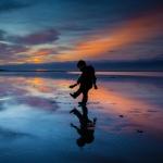 nr 16 - Fotowedstrijd Texel 2014 - Titel - Blauw kwartiertje bij zonsondergang - Annemieke van Atteveldt