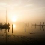 nr 3 - Fotowedstrijd Texel 2014 - Titel - Zonsopkomst in Haventje van Sil - Fotograaf - Kees Goedegebure